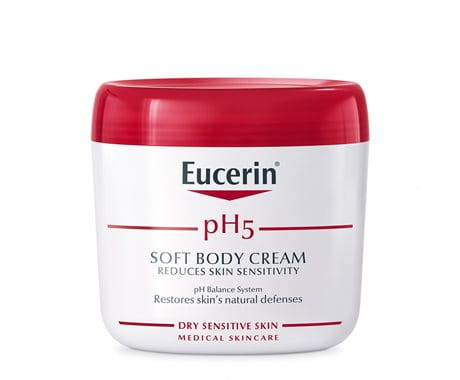 Eucerin® Q10 Anti-Wrinkle Sensitive Skin Cream is a fragrance-free, non-comedogenic anti-wrinkle cream for sensitive skin types. It's formulated with antioxidants like Vitamin E, Coenzyme Q10, and Beta-Carotene to help reduce the look of fine lines and wrinkles.